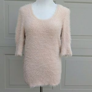 Knitted and Knotted Anthropologie Fuzzy Sweater
